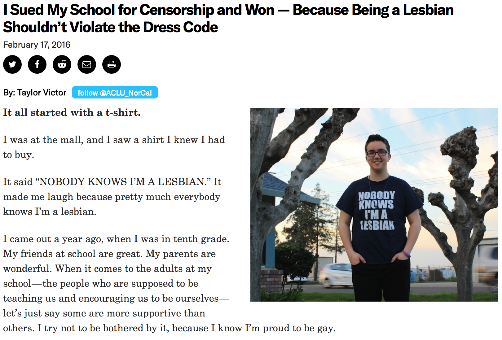 I Sued My School for Censorship Article